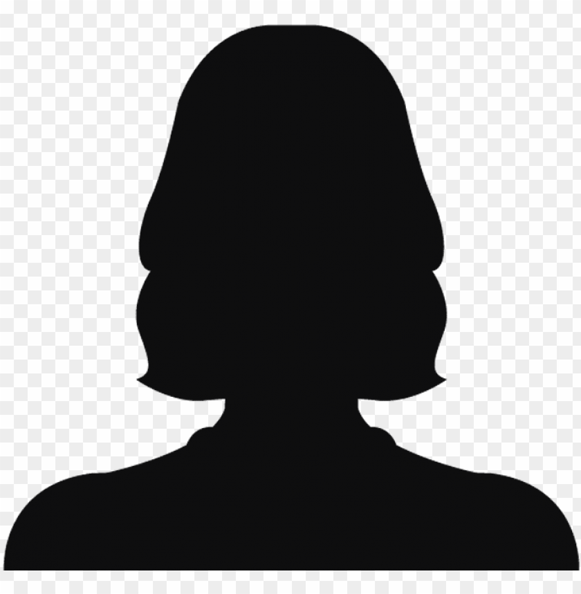 free PNG woman head silhouette png black and white download - female silhouette head PNG image with transparent background PNG images transparent