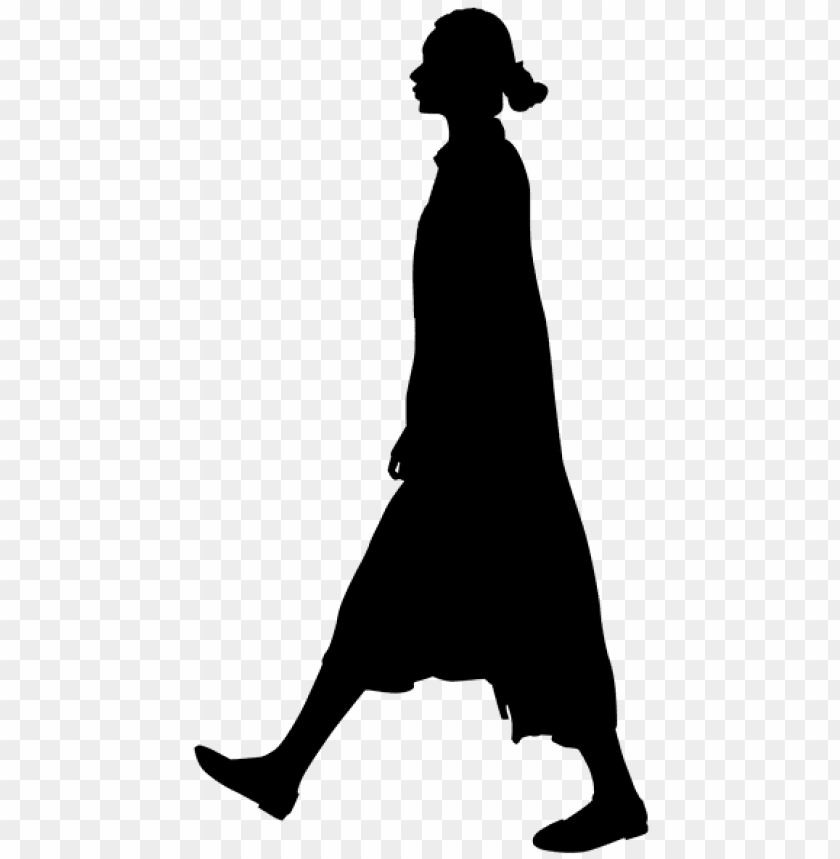 free PNG woman lady silhouette walking clip art at clker - human silhouette walki PNG image with transparent background PNG images transparent