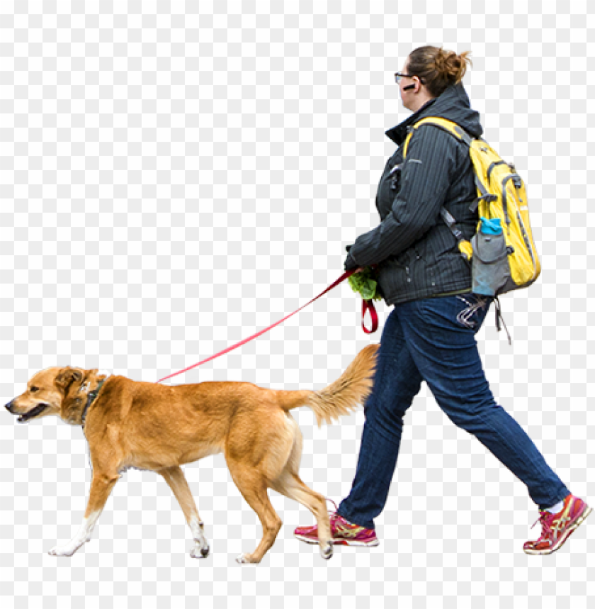 free PNG woman walking dog windy day people png, cut out people, - people walking dog PNG image with transparent background PNG images transparent