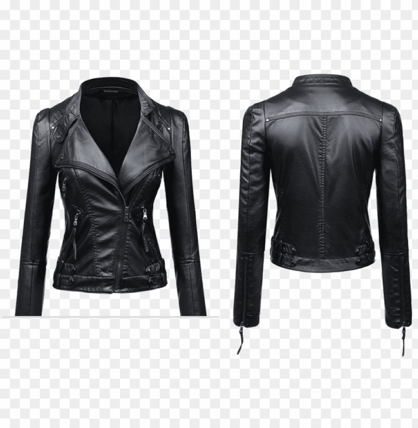 free PNG women leather jacket png transparent image - women's black leather jacket PNG image with transparent background PNG images transparent