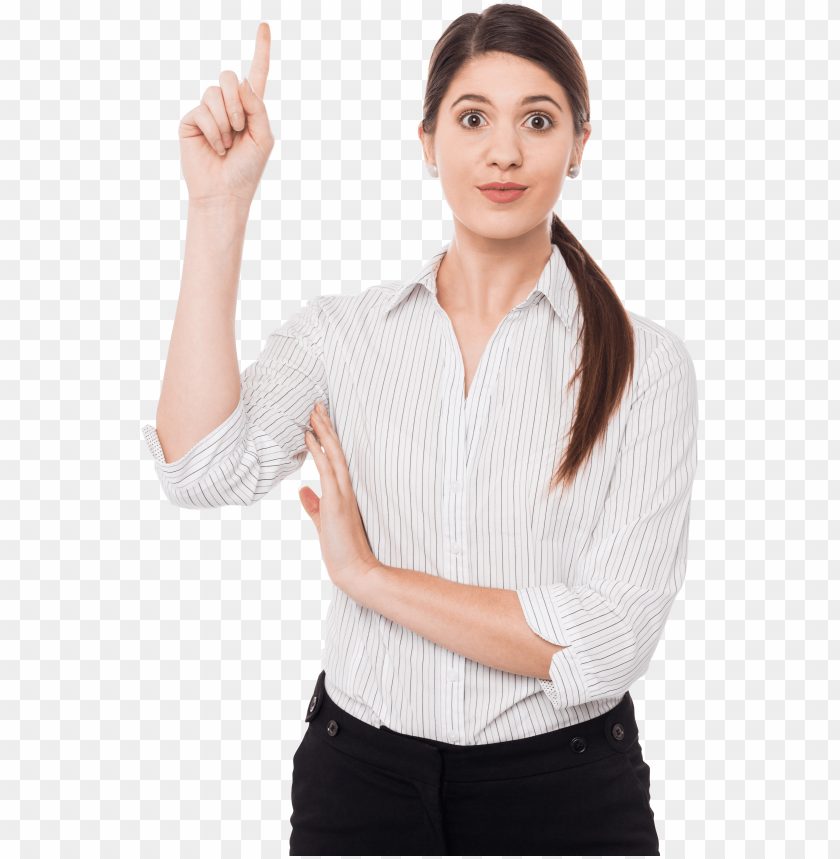 free PNG women pointing top png image - pointing wome PNG image with transparent background PNG images transparent
