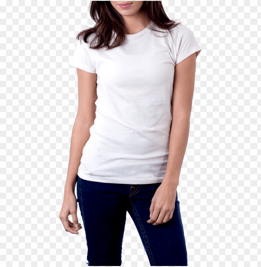 free PNG women's white t-shirt png image - white t shirt women PNG image with transparent background PNG images transparent