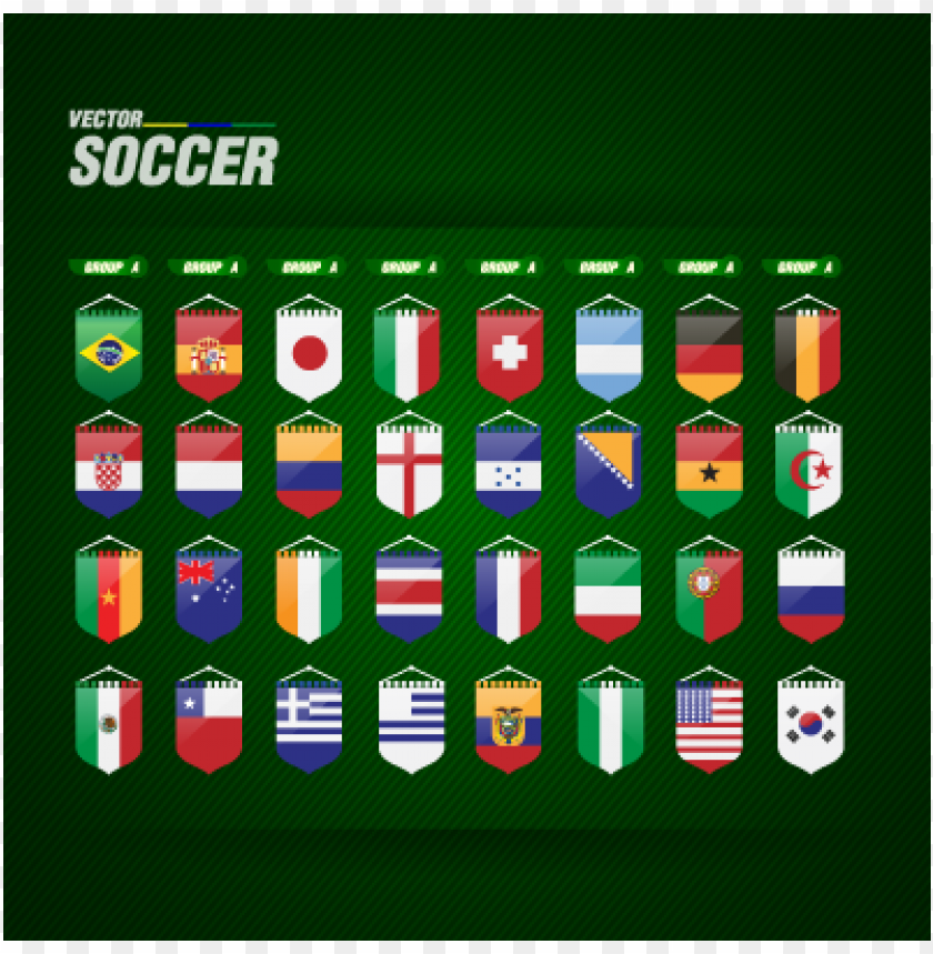 free PNG world cup flags vector PNG images transparent