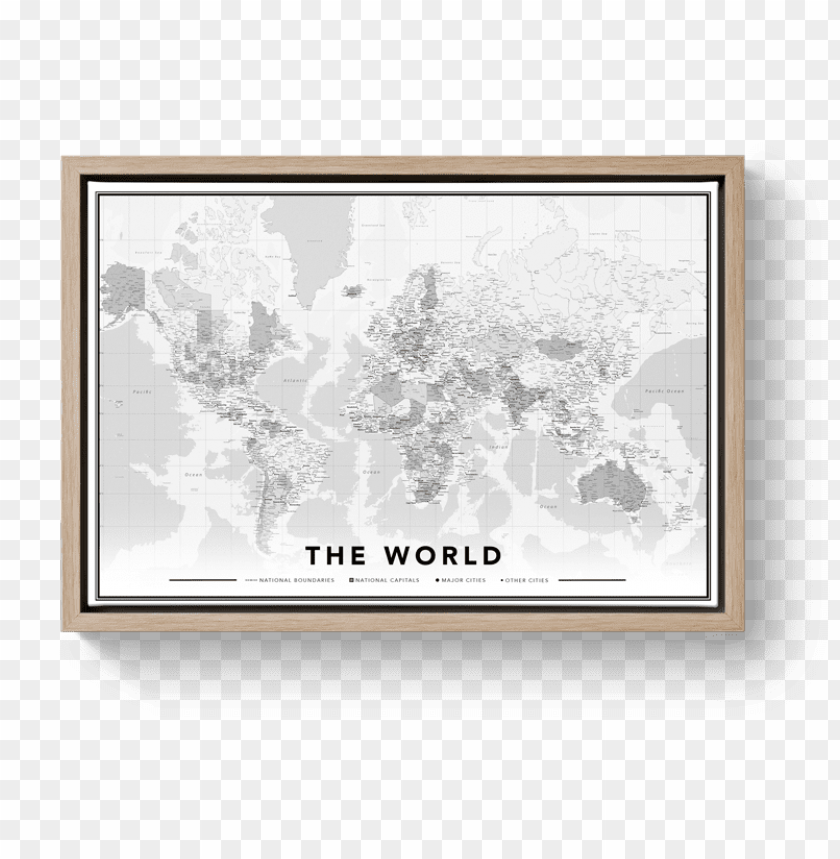 free PNG world map black and white world map with free pins - herinneringen op linnen wereldkaart PNG image with transparent background PNG images transparent