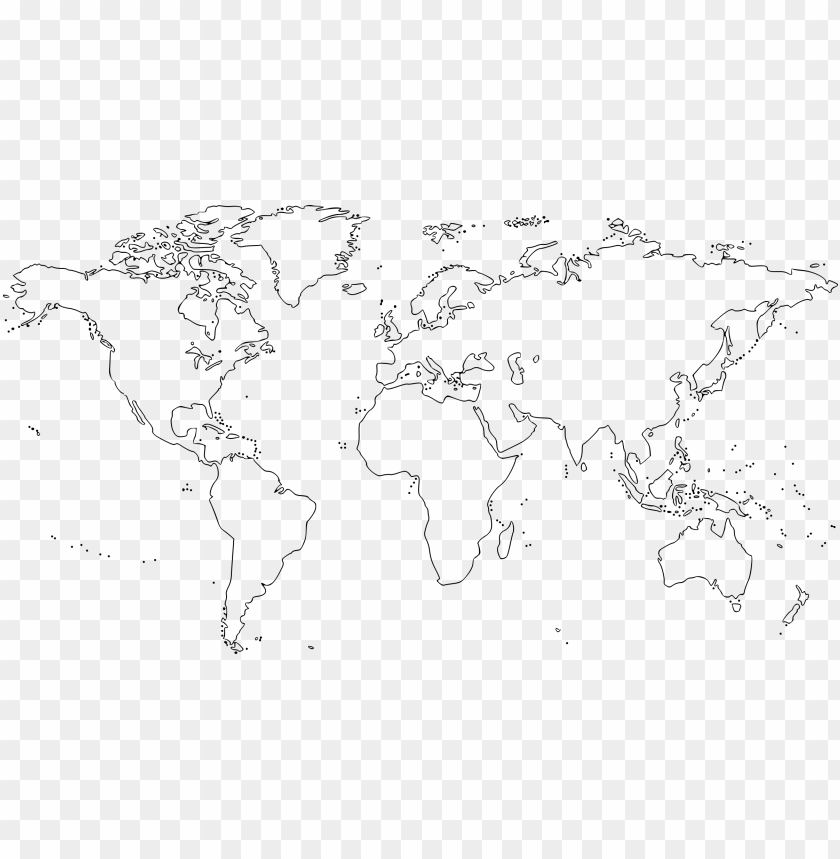 free PNG world map graphic free library - world map outline PNG image with transparent background PNG images transparent