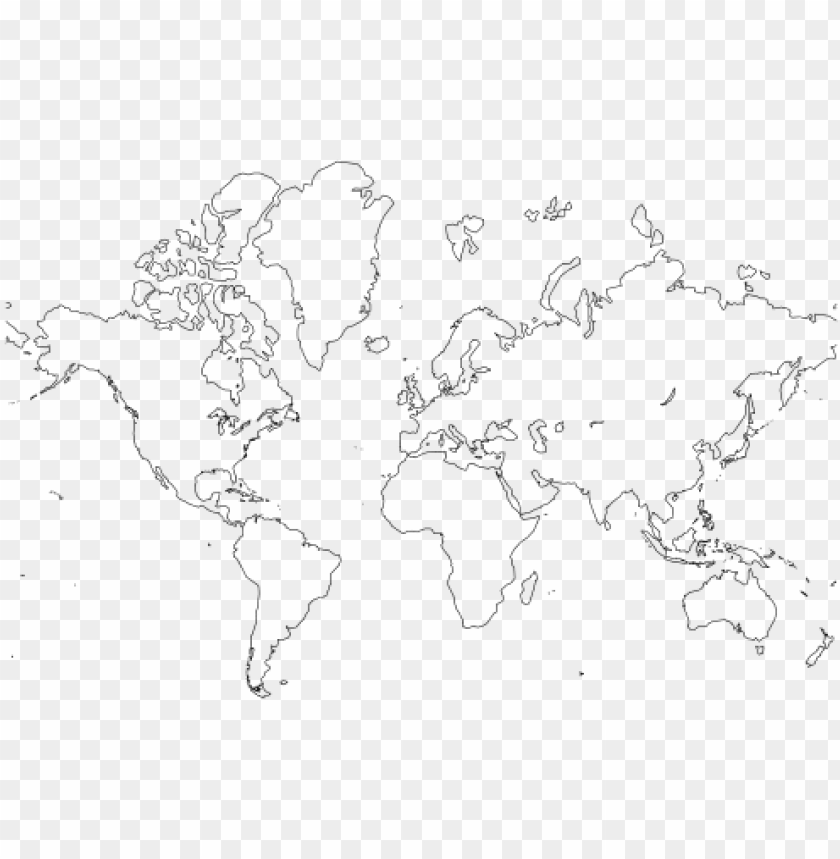 free PNG world map outline amazing race party - world map black and white outline printable PNG image with transparent background PNG images transparent