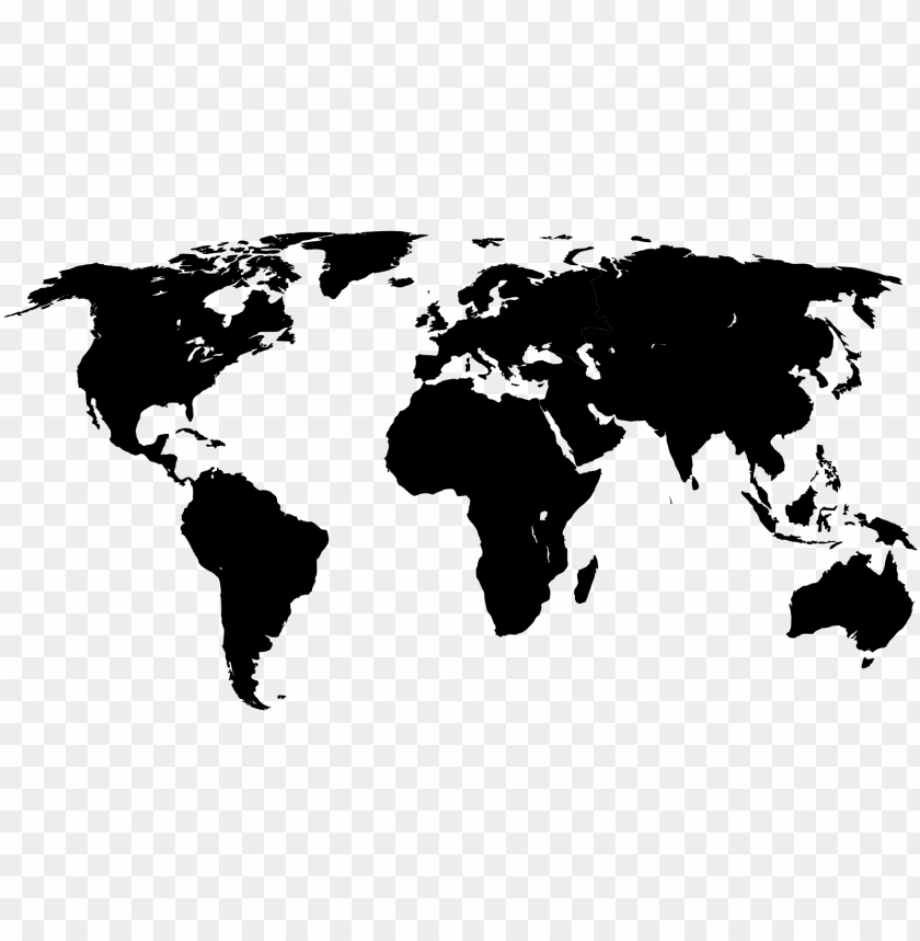 free PNG world map with black and white outline,blank map of - world map png black PNG image with transparent background PNG images transparent