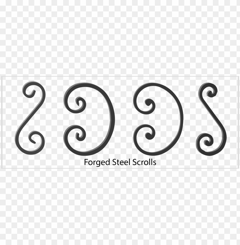 free PNG wrought iron scrolls, forged steel scrolls - wrought iron c scrolls PNG image with transparent background PNG images transparent