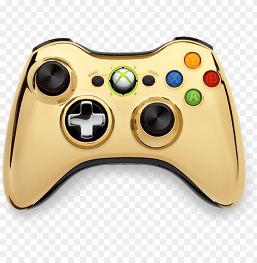 free PNG xbox 360 gold controller - gold chrome xbox 360 controller PNG image with transparent background PNG images transparent