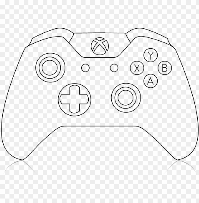 Xbox One Controller Line Drawing Xbox One Controller Cricut Png