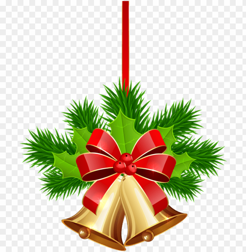 free PNG xmas golden bells png clip art image - christmas card decorations PNG image with transparent background PNG images transparent