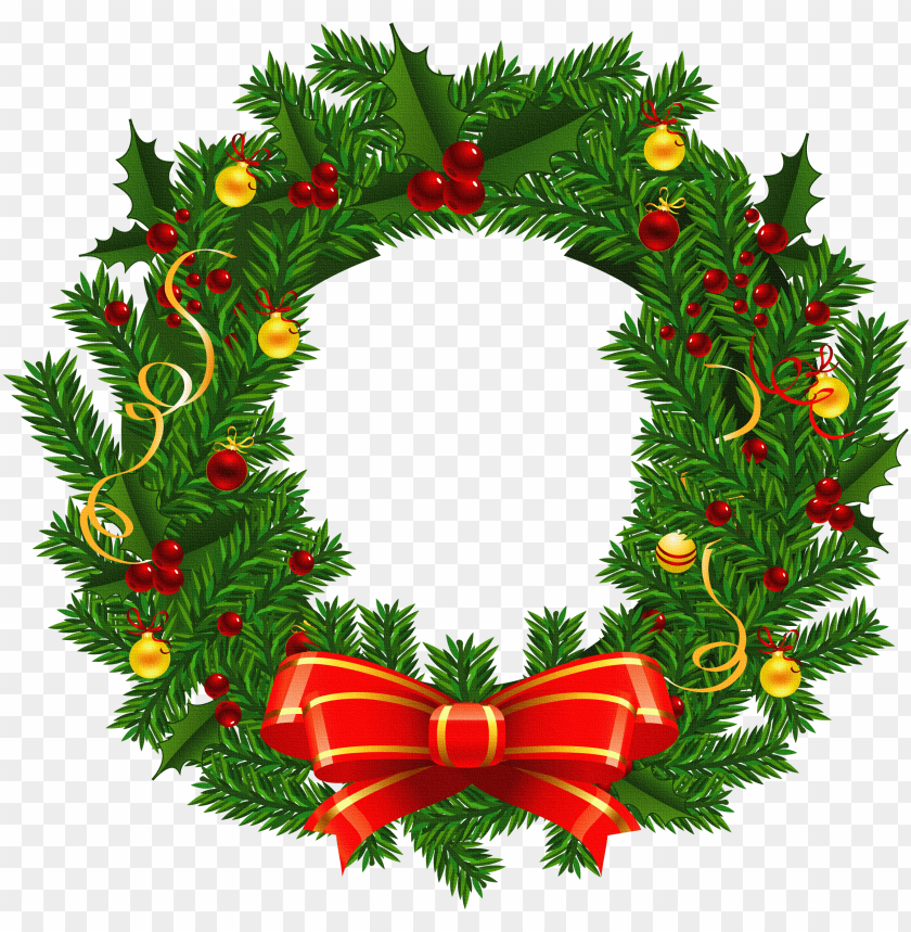 free PNG xmas stuff for christmas wreath images clip art - christmas wreath clipart PNG image with transparent background PNG images transparent