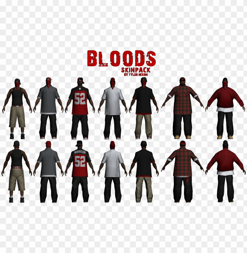free PNG y6rn5futyfge - gta san andreas bloods skins PNG image with transparent background PNG images transparent