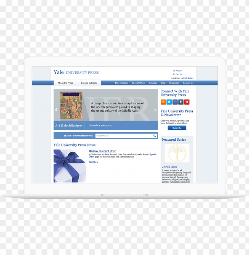free PNG yale university press website displayed on a computer - computer PNG image with transparent background PNG images transparent