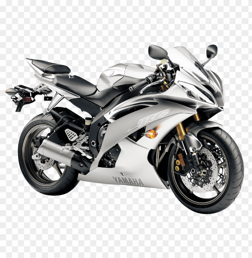 free PNG Download Yamaha R6 Liquid Silver Motorcycle Bike png images background PNG images transparent