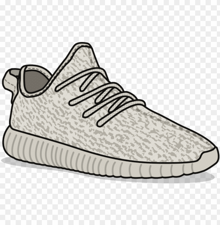 Yeezys Shoes Png Cartoon Yeezy Png Image With Transparent