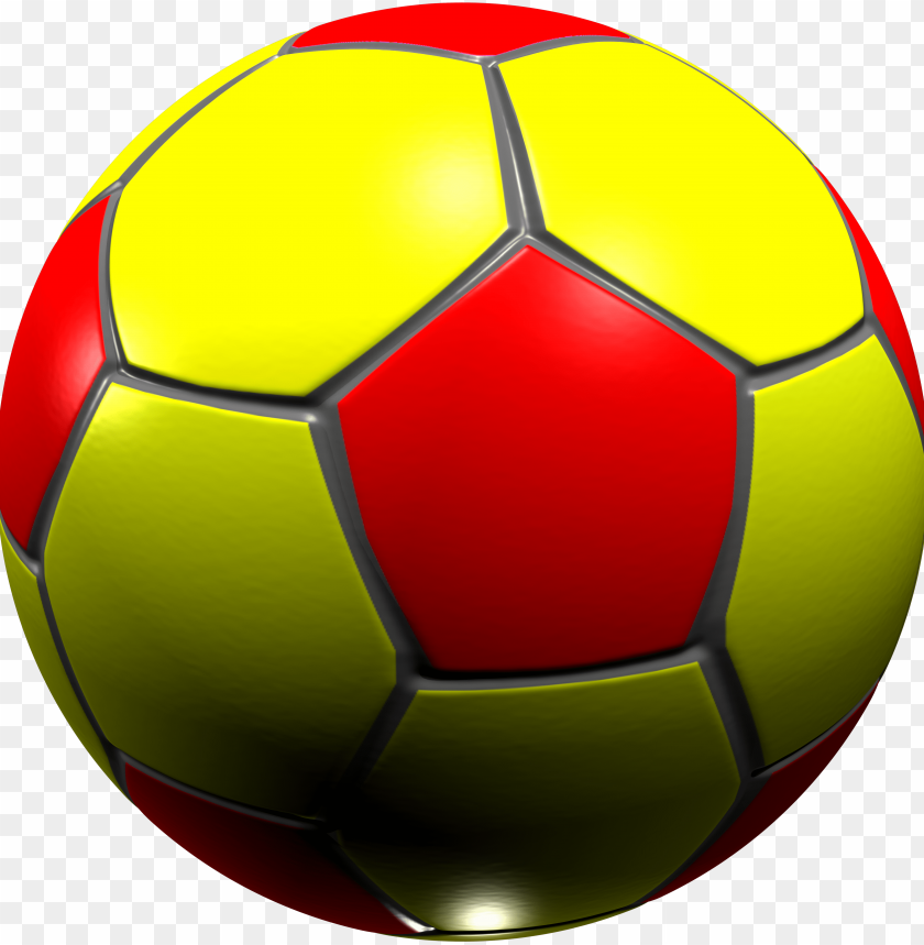 free PNG yellow and red football PNG image with transparent background PNG images transparent
