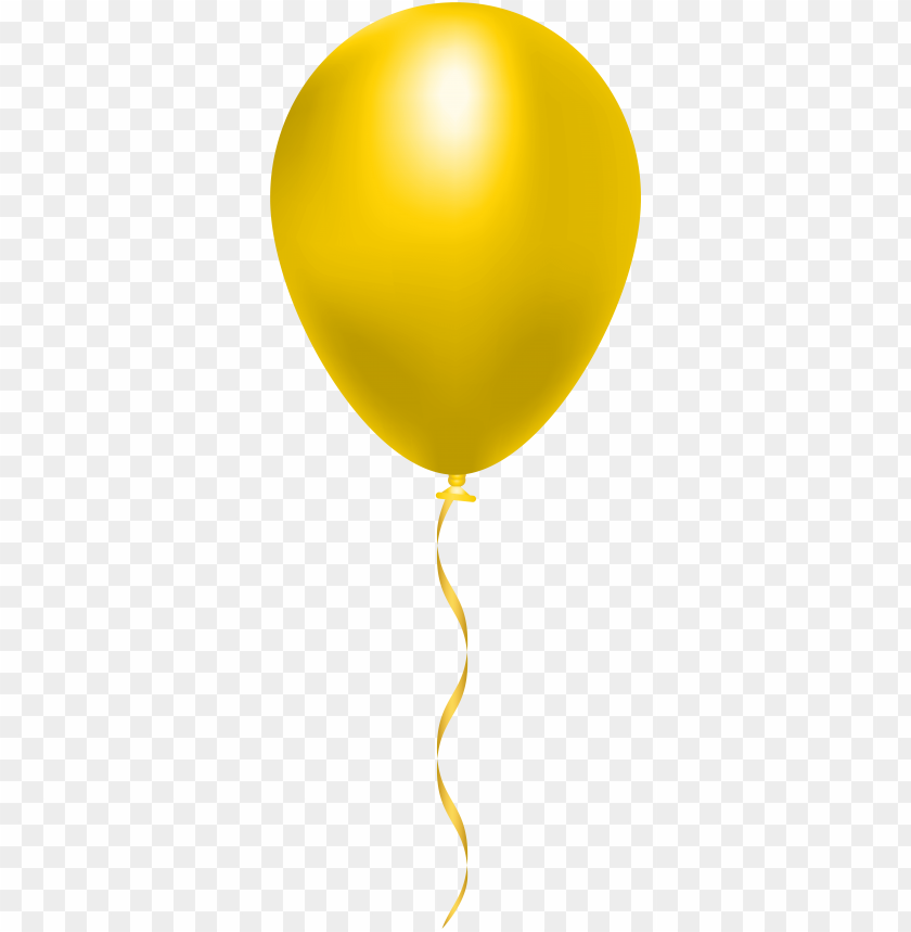 free PNG yellow balloon png clip art image - yellow balloon clipart PNG image with transparent background PNG images transparent