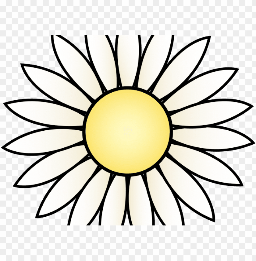 free PNG yellow flower clipart yellow daisy - sunflower black and white PNG image with transparent background PNG images transparent