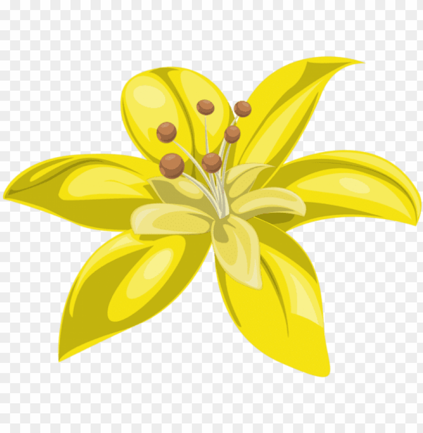 free PNG yellow flower decor png clipartu200b - yellow flowers in PNG image with transparent background PNG images transparent