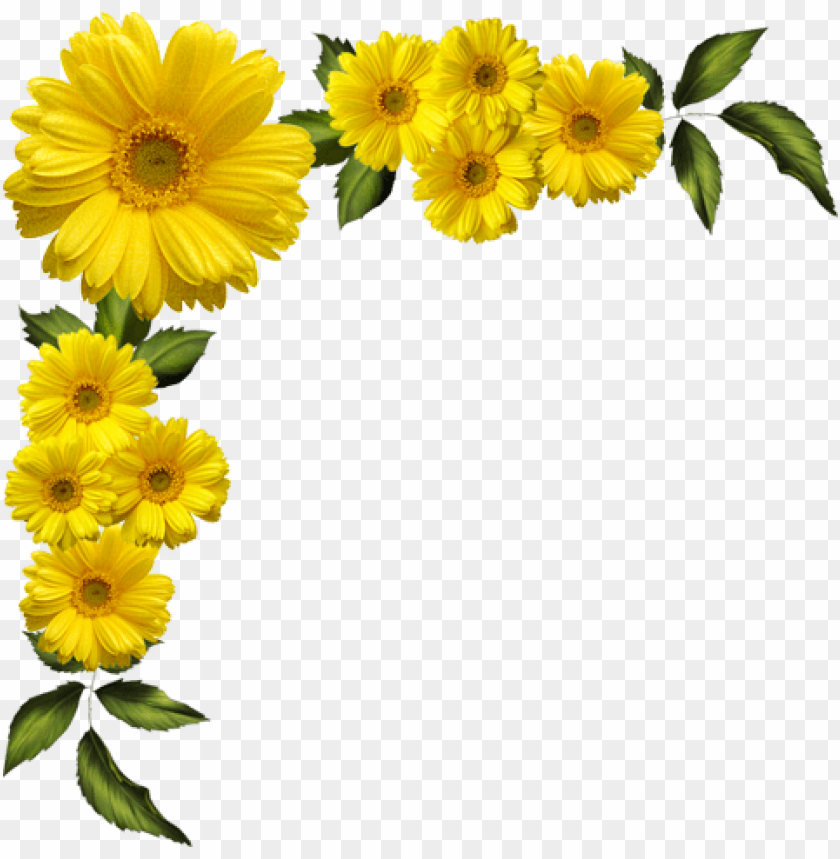 yellow flowers border png image with transparent background toppng yellow flowers border png image with