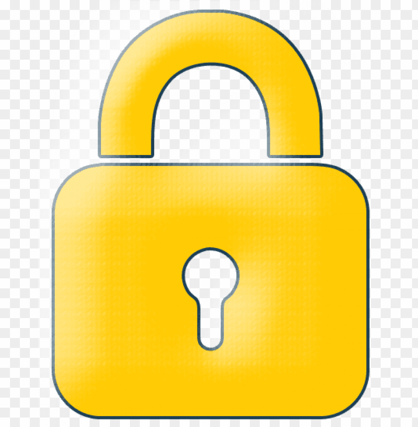 yellow lock icon - yellow lock transparent icon png - Free PNG Images@toppng.com