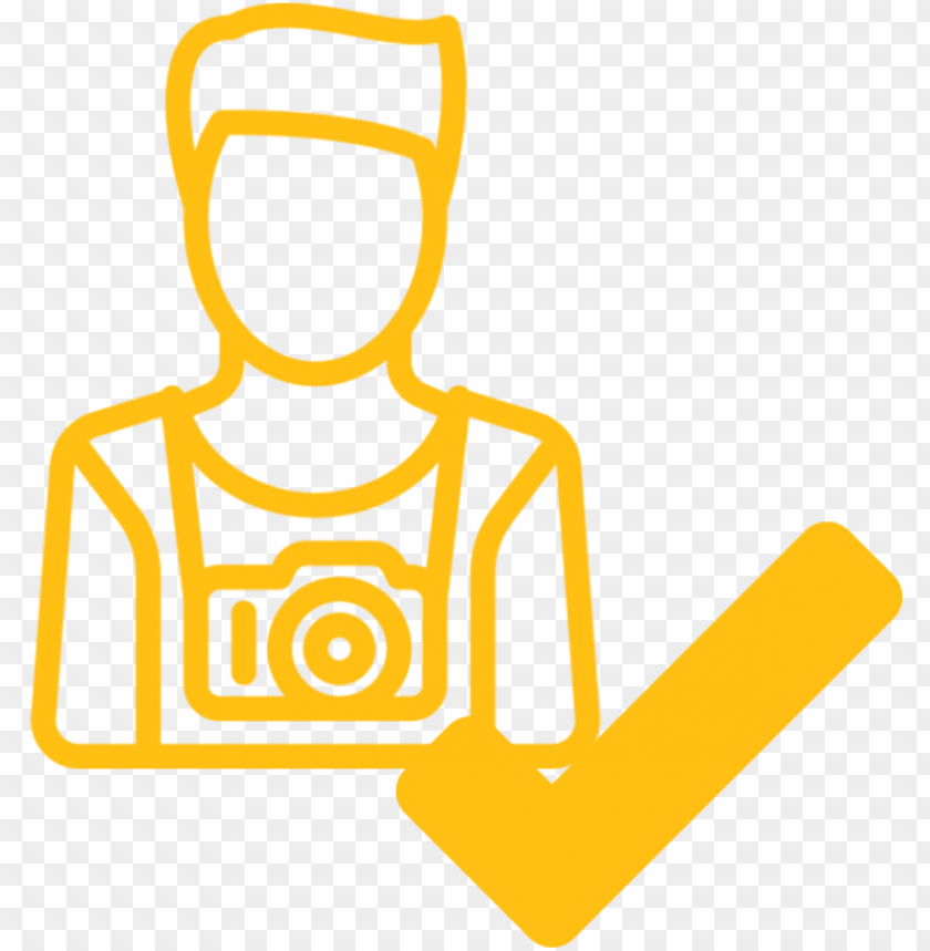 free PNG yellow node influencer with a check mark icon against PNG image with transparent background PNG images transparent