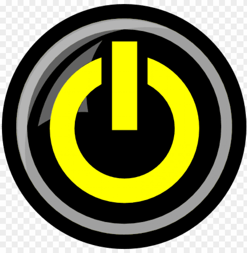 free PNG yellow power button icon - power button icon gif png - Free PNG Images PNG images transparent
