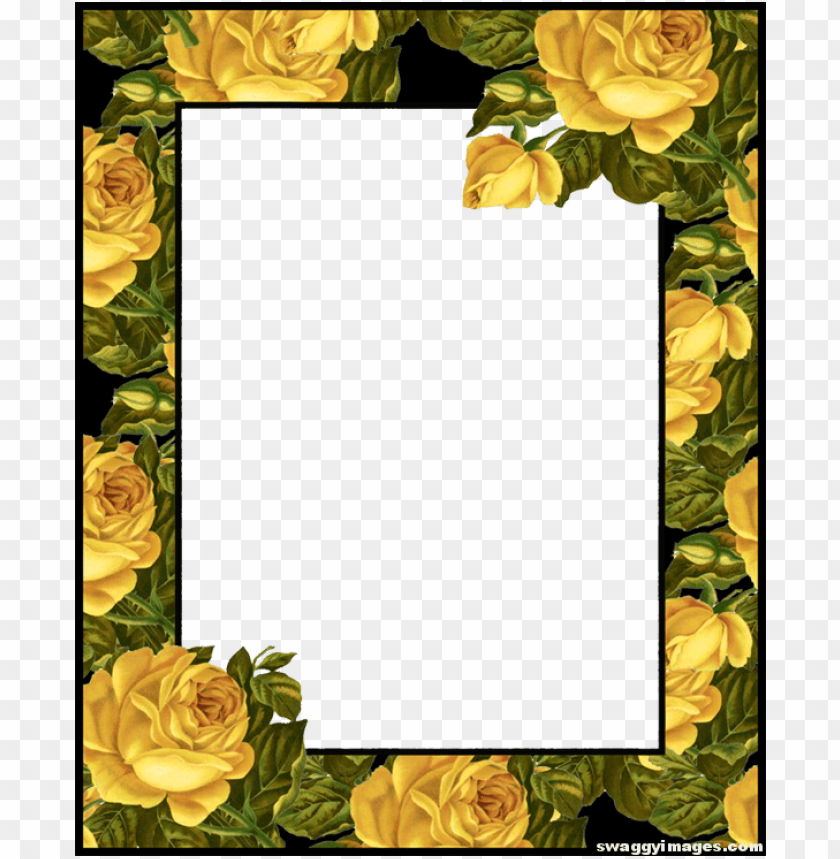free PNG yellow rose photo frame - yellow rose borders and frames PNG image with transparent background PNG images transparent