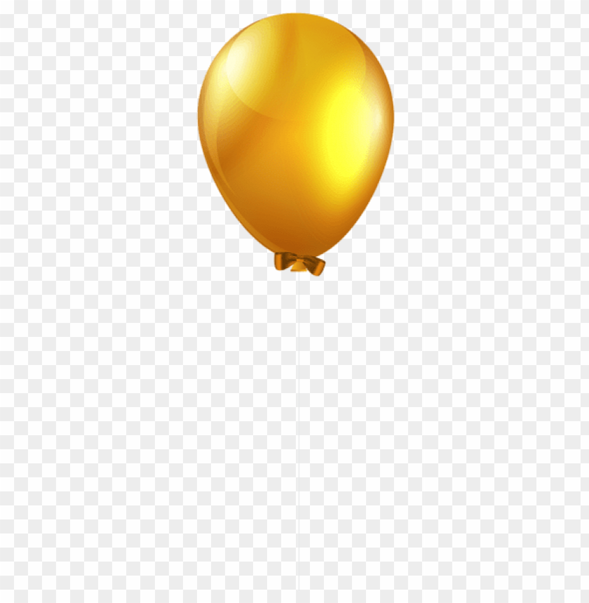 free PNG Download yellow single balloon png images background PNG images transparent