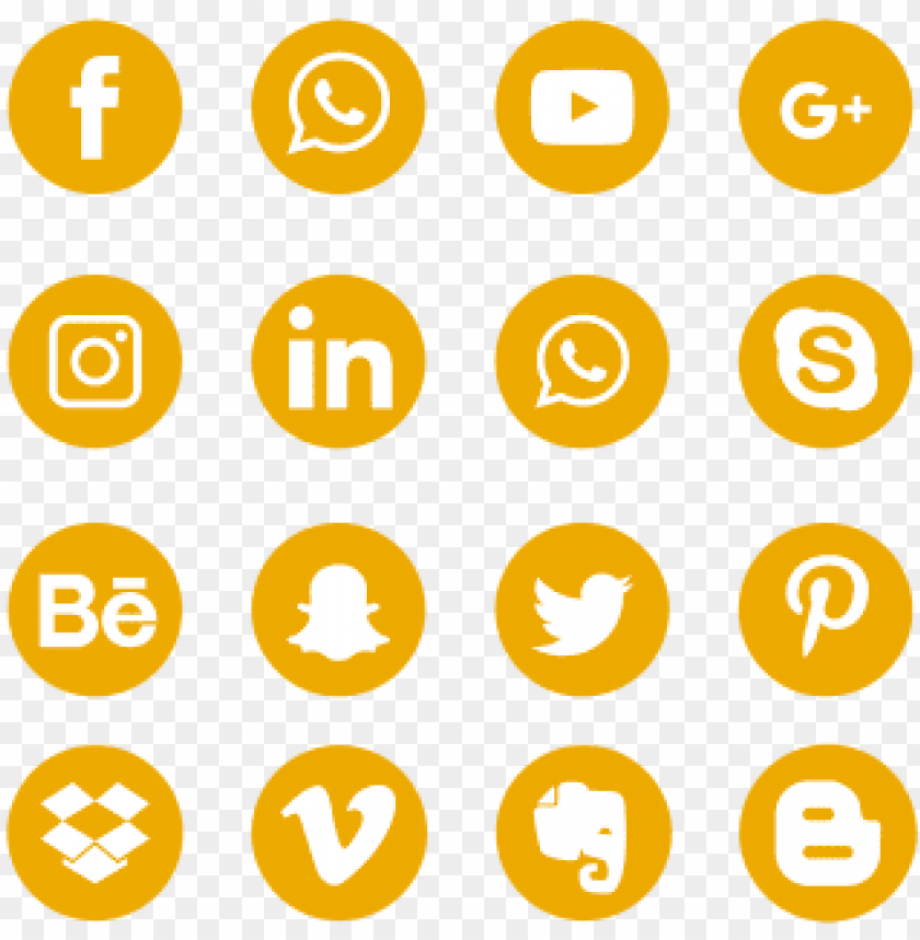 free PNG yellow social media icons set logo symbol, social, - social media icons green color png - Free PNG Images PNG images transparent