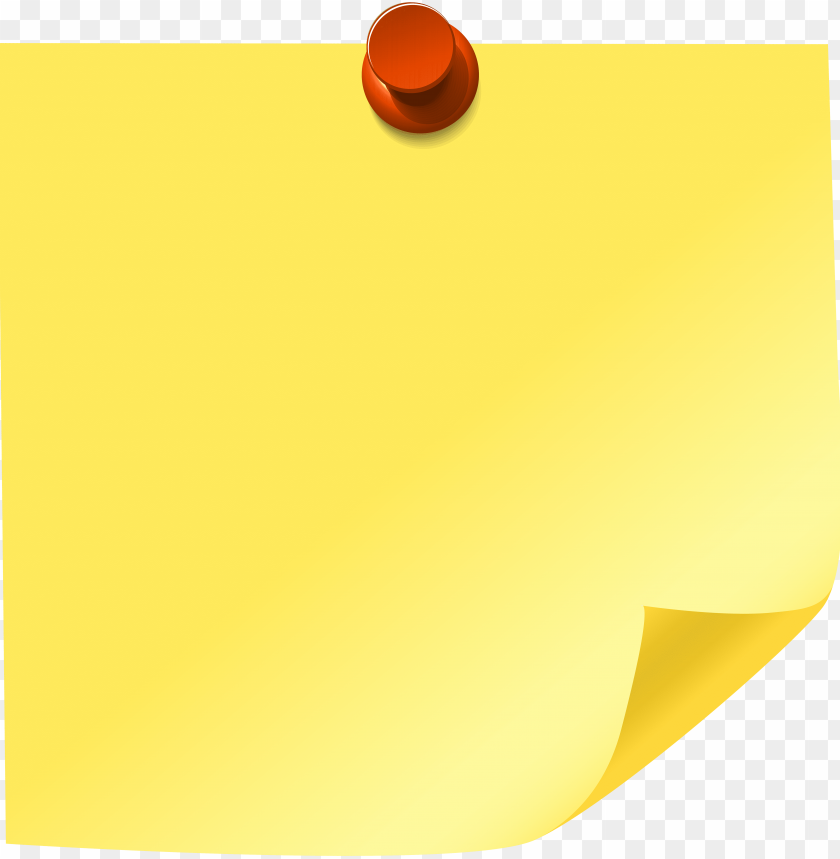 free PNG yellow sticky note png clip art - sticky note clipart PNG image with transparent background PNG images transparent
