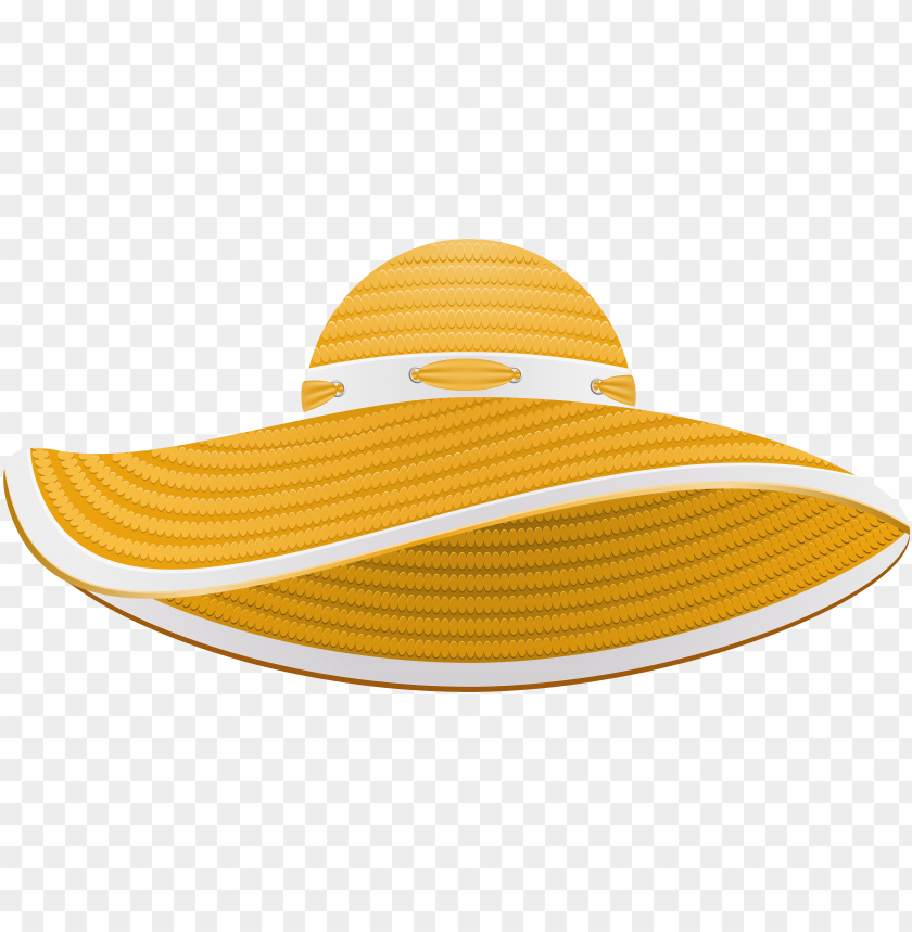 free PNG yellow summer female hat transparent png clip art image - clip art sun hat PNG image with transparent background PNG images transparent