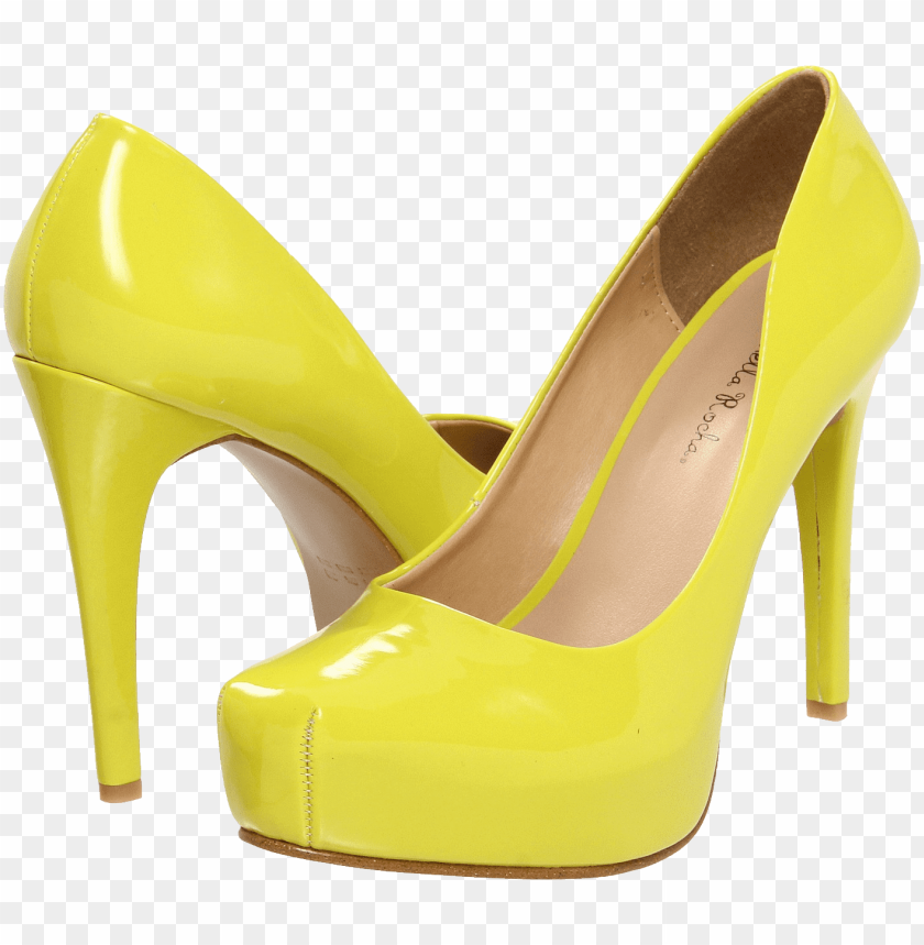 free PNG yellow women shoe png - Free PNG Images PNG images transparent