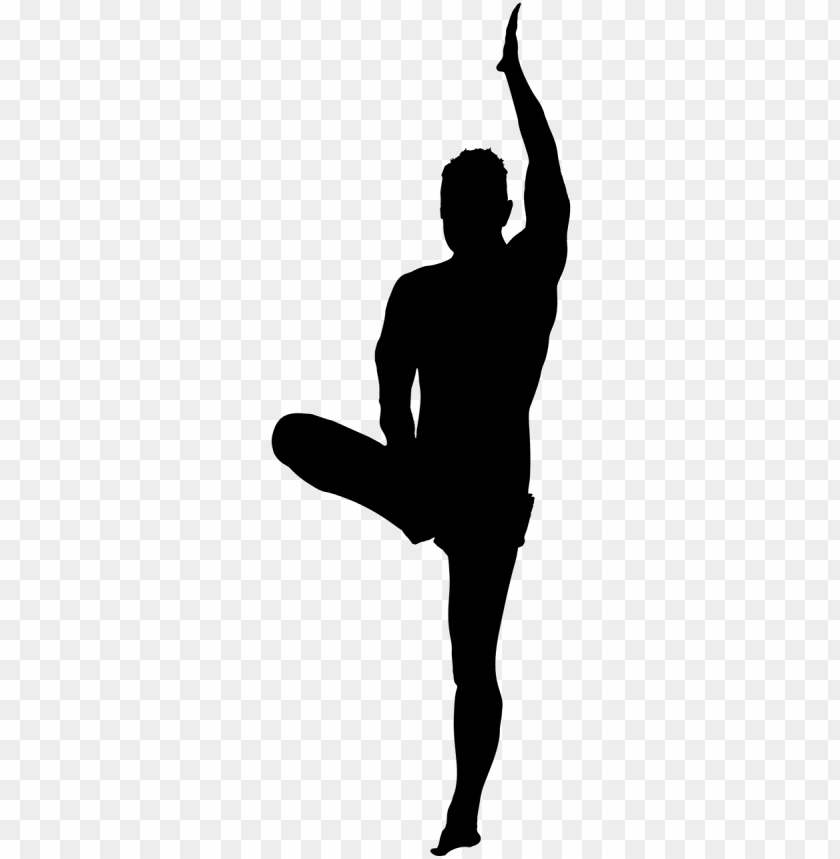 Yoga Man Silhouette Png Image With Transparent Background Toppng