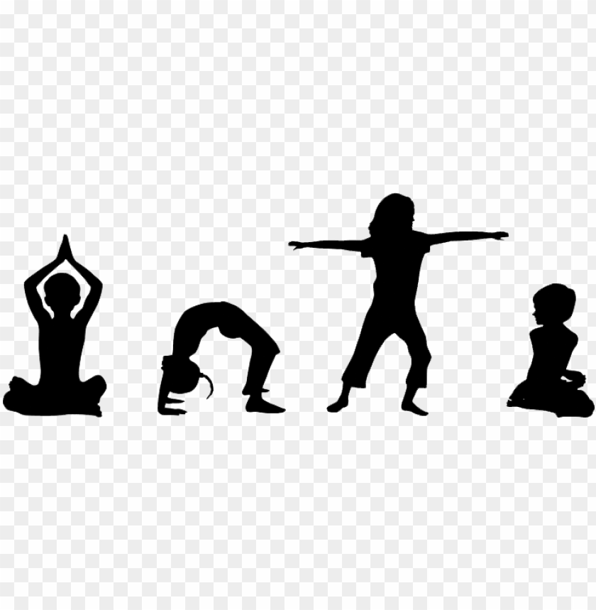 Yoga Vector Kid Kids Yoga Silhouette Png Image With Transparent Background Toppng