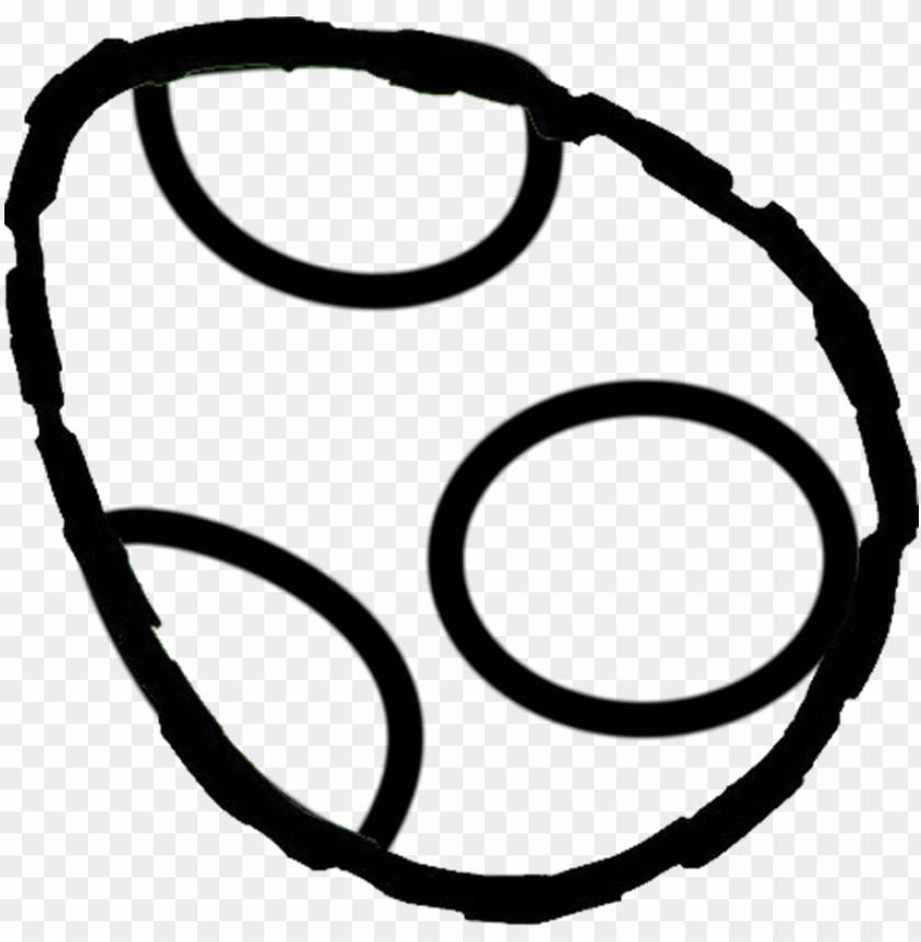 free PNG yoshi egg colouring pages - yoshi egg black and white PNG image with transparent background PNG images transparent