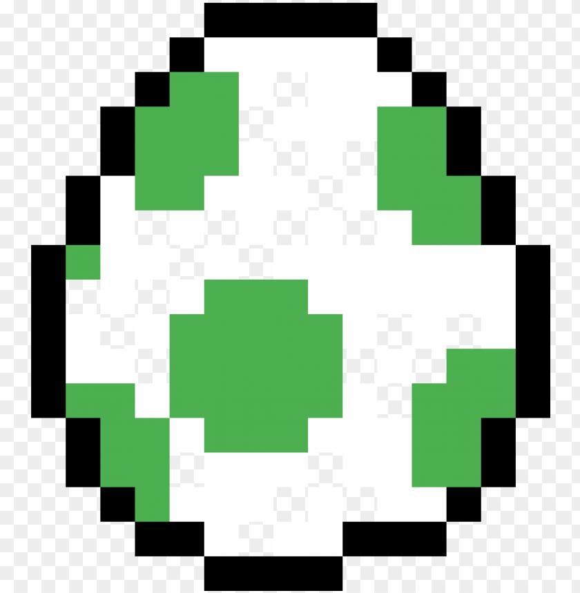 Yoshi Egg Pixel Art Mario Bros Png Image With Transparent