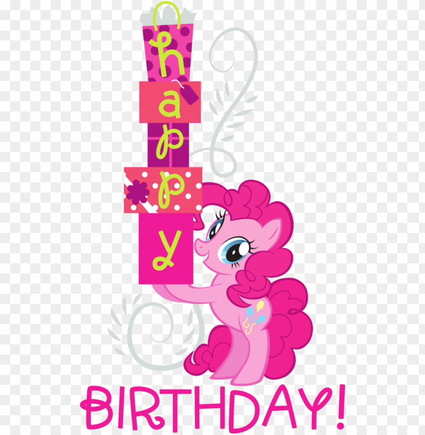 free PNG you can click above to reveal the image just this once, - happy birthday my little pony pinkie pie PNG image with transparent background PNG images transparent