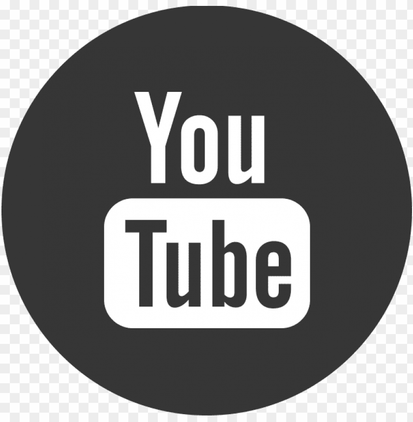 You Tube Youtube Icon Black Circle Png Image With