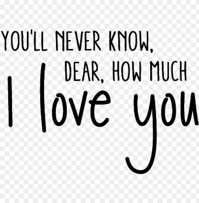free PNG you'll never know dear, how much i love you - love you you never know PNG image with transparent background PNG images transparent