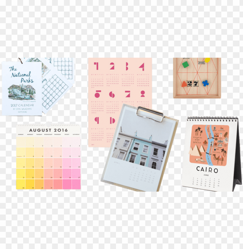 free PNG your workspace needs a pretty calendar so you stop - paper PNG image with transparent background PNG images transparent