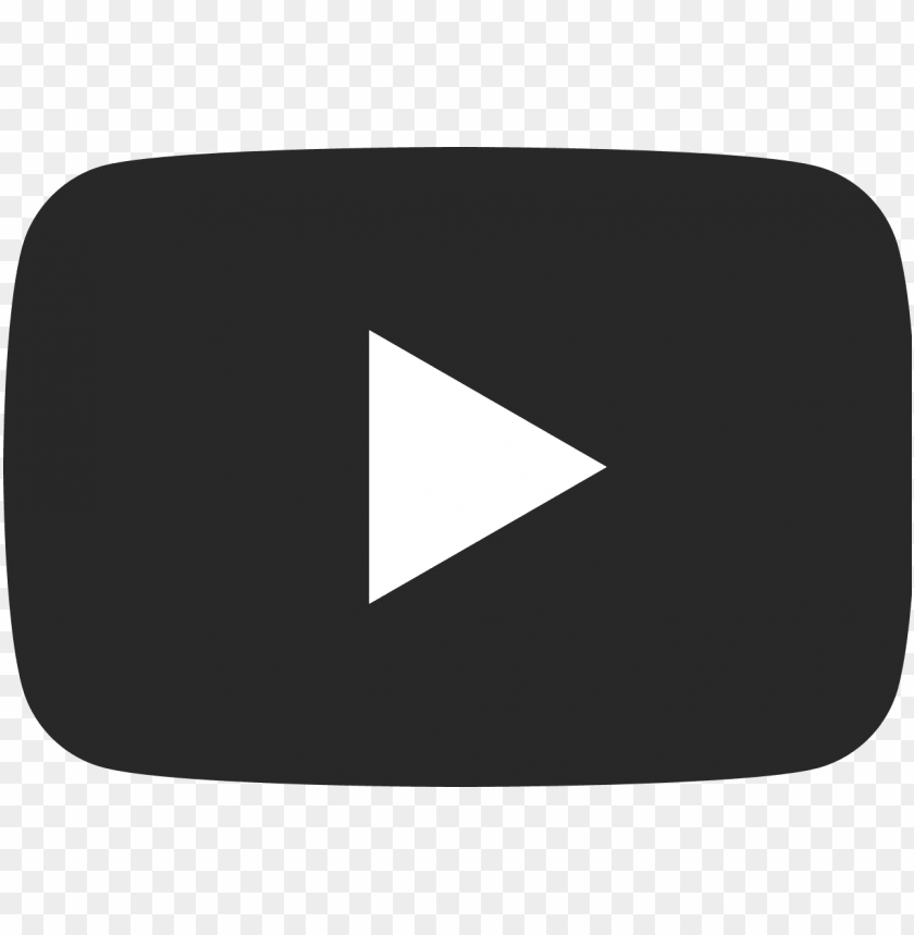free PNG youtube dark icon - youtube logo vector grey PNG image with transparent background PNG images transparent