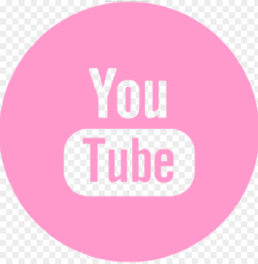 free PNG #youtube #logo #rosa - imagens em png youtube rosa PNG image with transparent background PNG images transparent