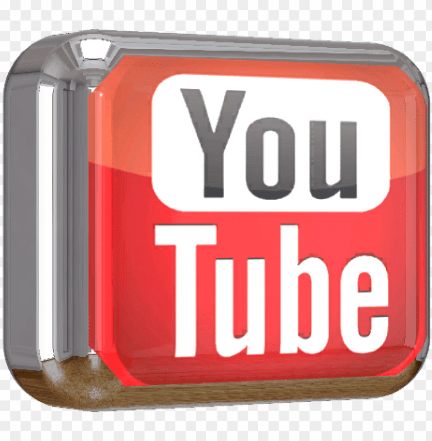free PNG youtube square shiny 3d button png file - youtube PNG image with transparent background PNG images transparent