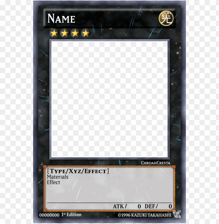 Yu Gi Oh Blank Card Template 6883 Number 39 Utopia Png