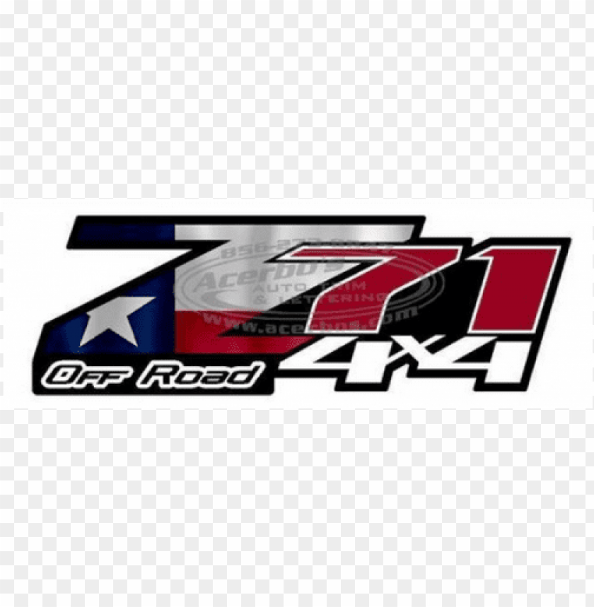 free PNG z71 off road 4 x 4 texas usa flag set of 2 truck decals/stickers - z71 4x4 logo PNG image with transparent background PNG images transparent