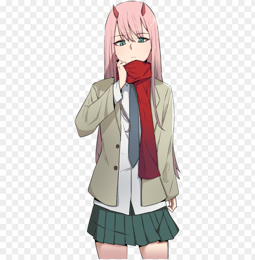 free PNG zero two 27 - zero two school uniform PNG image with transparent background PNG images transparent