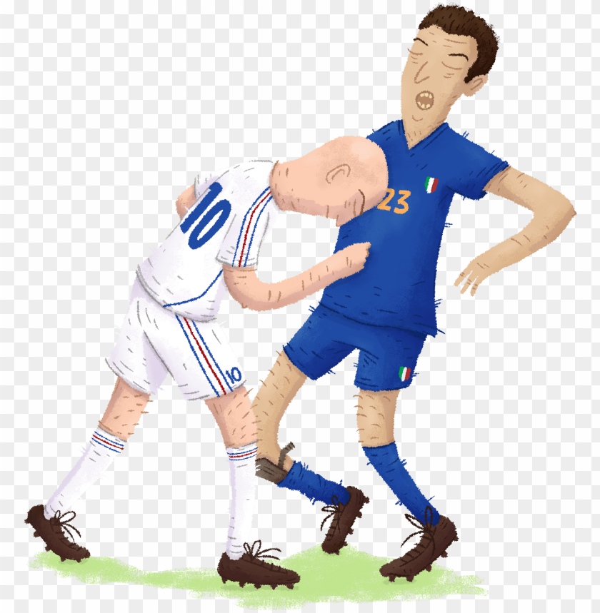 free PNG zidane, france materazzi, italie - zidane materazzi illustratio PNG image with transparent background PNG images transparent