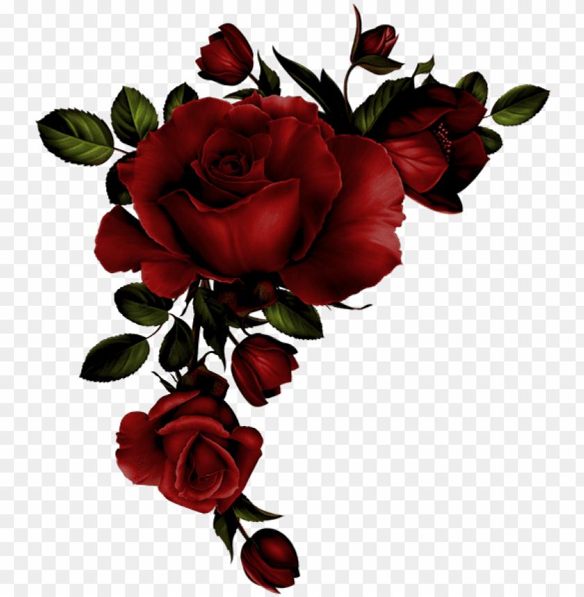 free PNG Золотая Бабочка - roses corner border PNG image with transparent background PNG images transparent
